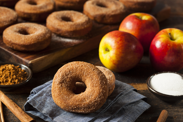 Cider Donuts and apples