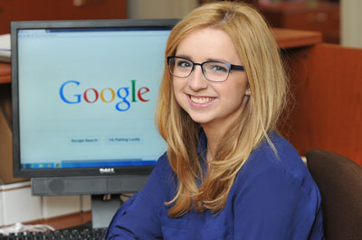 lucy mathis 17 is the first siena college student to earn an internship at google