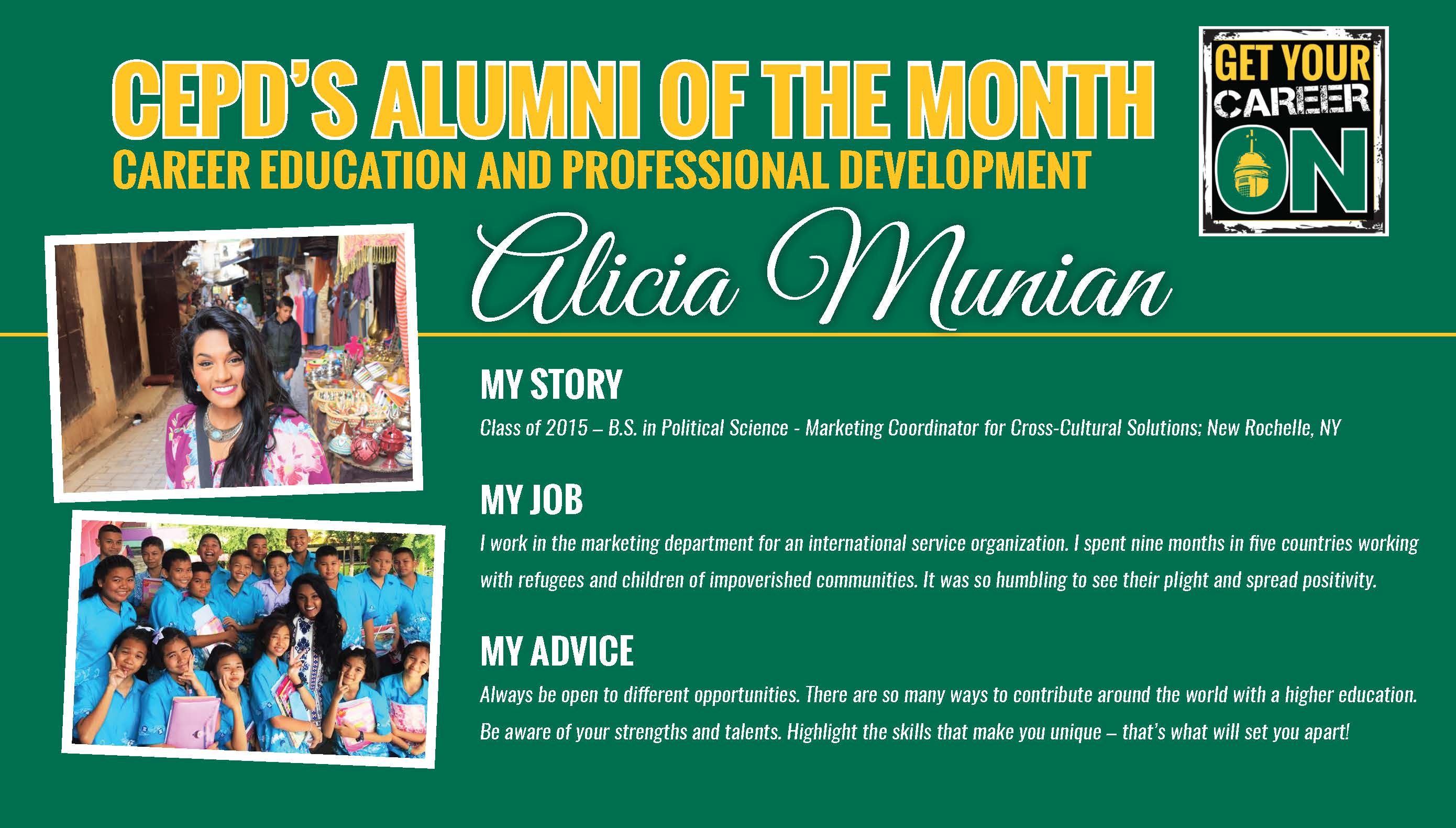 CEPD Alumni of the Month May 2018