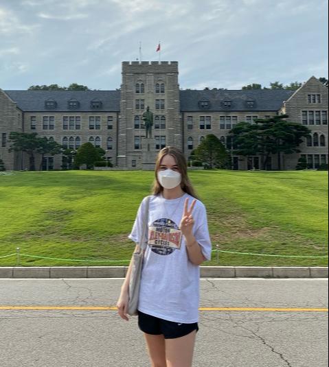 Corinna Hofler in Korea