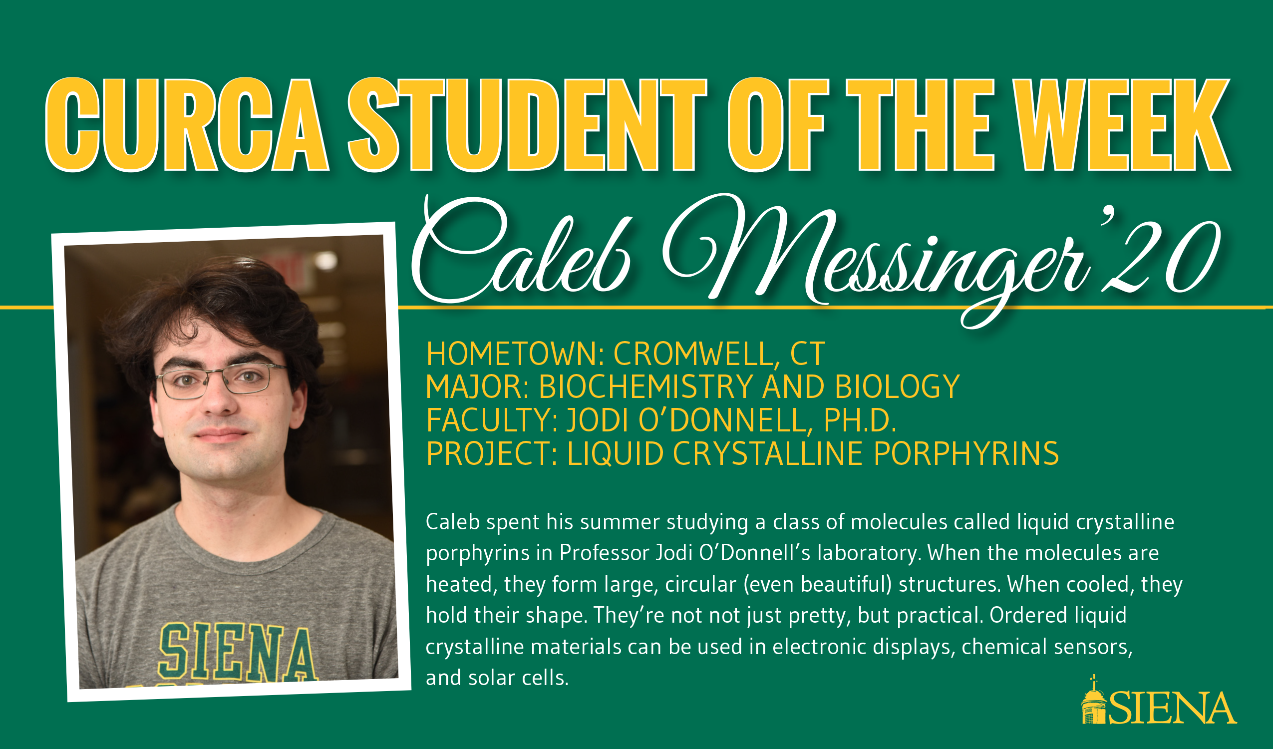 CURCA Student of the Week October 9