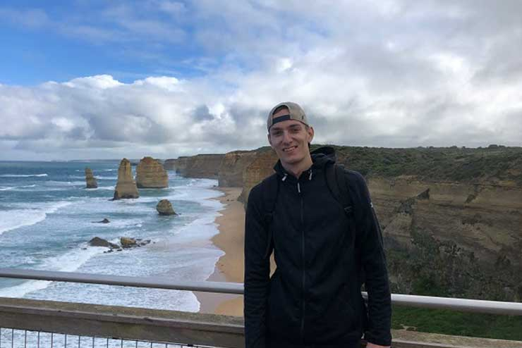 Kyle Loughlin '20 who studied abroad in Melbourne, Australia his junior year
