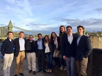 Our Siena interns in London celebrate their experiences abroad along the River Thames