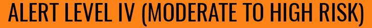 orange level IV moderate to high risk